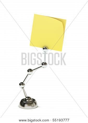 Modern stand holding blank sticky post