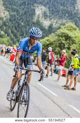 Andrew Talansky  Climbing Alpe D'huez