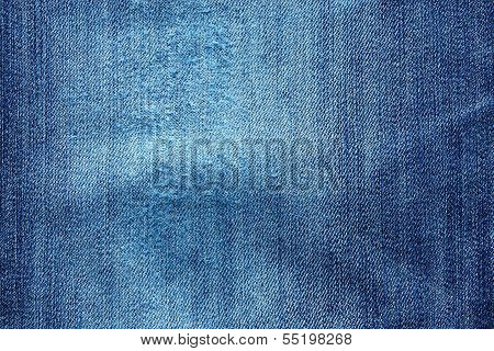 External Texture Of The Wiped And Crumpled Jeans