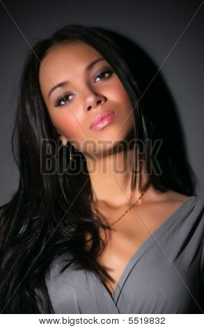 Young Brunette Woman Portrait