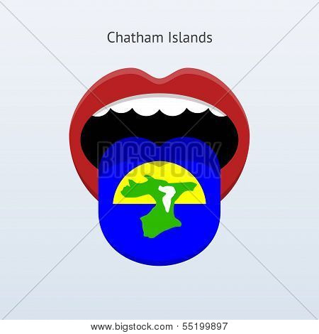 Chatham Islands language. Abstract human tongue.