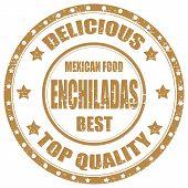 stock photo of enchiladas  - Grunge rubber stamp with text Enchiladas - JPG