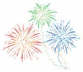stock photo of bomb  - colourful fireworks illustration for new year holiday - JPG