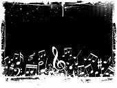 stock photo of musical note  - Grunge style abstract background with music notes - JPG