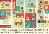 Flache Infographik Elements plus Icon Set. Vektor EPS 10.