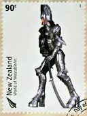 stamp dedicated to World of WearableArt shows Persephone's Descent by Stuart Johnson
