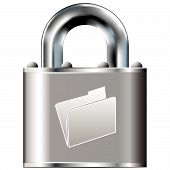 stock photo of pick-lock  - File folder or document icon on secure vector lock button - JPG