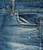 stock photo of denim wear  - Jeans background - JPG