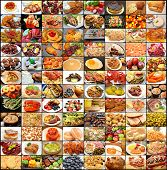 stock photo of meats  - Large Food Collage - JPG
