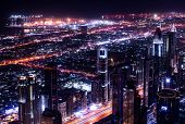 foto of dubai  - Dubai city at night - JPG