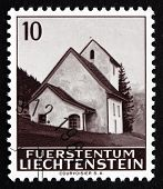 Postage Stamp Liechtenstein 1964 Chapel Of St Theodul In Masescha