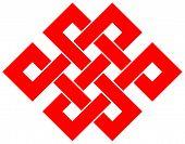 stock photo of macrame  - Beautiful Chinese knot isolated on white background - JPG