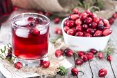 stock photo of juices  - Fresh made Cranberry Juice  - JPG