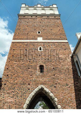 Opatowska Gate, erected in 14th century, Sandomierz, Poland