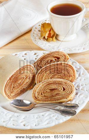 Brazilian Dessert Bolo De Rolo (swiss Roll, Rollcake)
