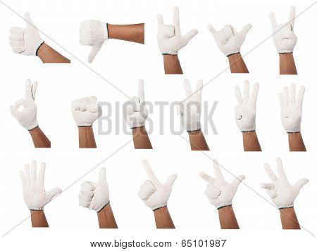 Set Of Hands Gesture
