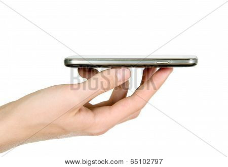 Man Is Holding Smartphone