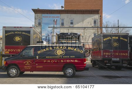 Boar's Head Brand Provisions trucks in Brooklyn