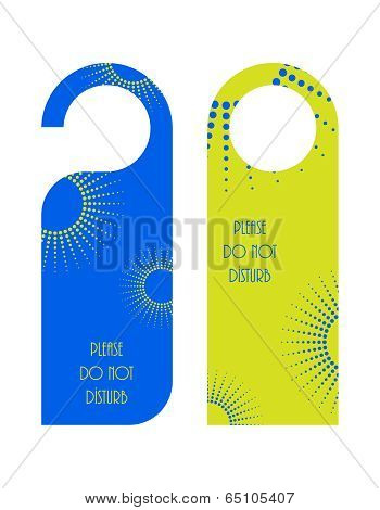 Do Not Disturb Door Warning With Dotted Design