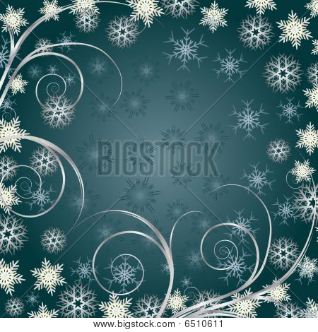 Background Siver Snowflakes