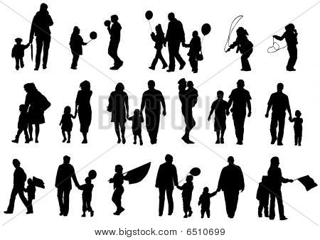 Silhouettes famely