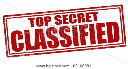 Stamp with text top secret classified inside vector illustration