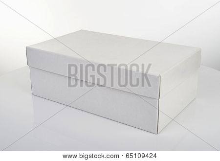White Shoe Box Isolated On White Table