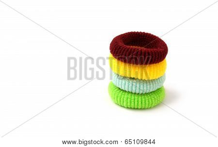 Scrunchy on white background