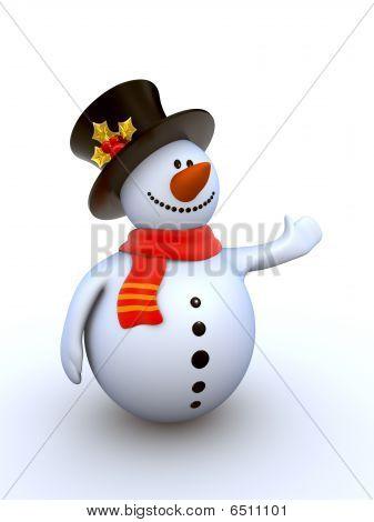 Funny stylish snowman