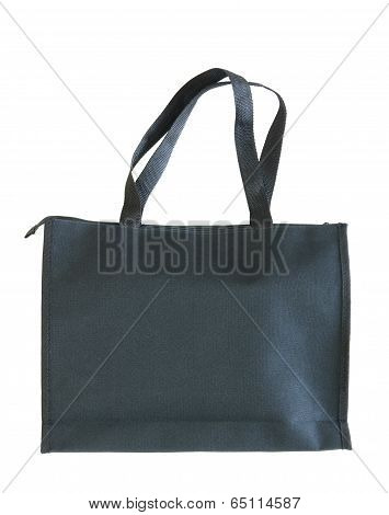Black Shopping Bag On White Background