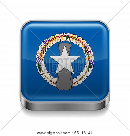 Metal  icon of Northern Mariana Islands