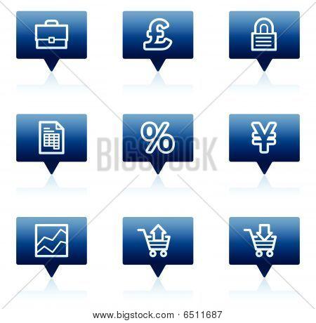 E-business web icons, blue speech bubbles series