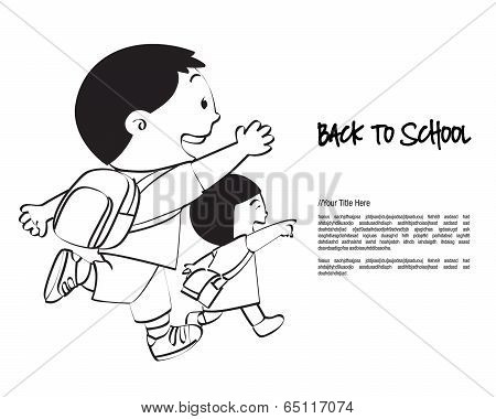 Back to School Brother & Sister