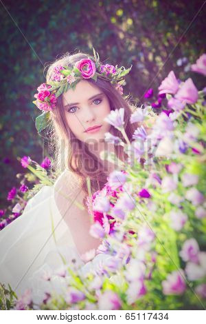 natural beauty, flower fairy in nature.