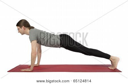 Man In Plank Pose