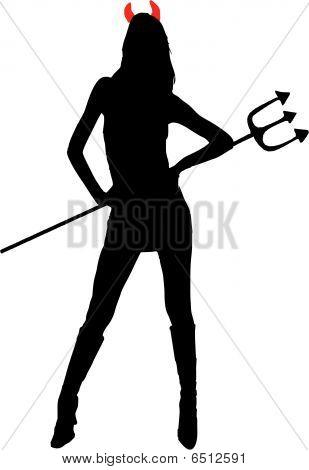 She-devil vector illustration