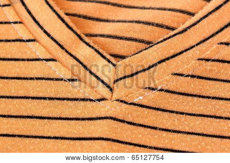 Orange Alternating Black T-shirt.