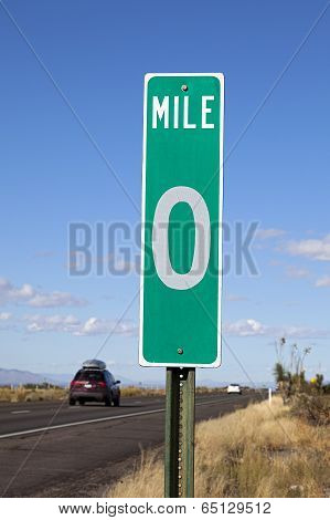 Zero Mile Road Sign