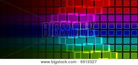 Rainbow Squares Composition