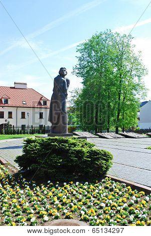 Statue Of Adam Mickiewicz (adomas Mickevicius) In Vilnius