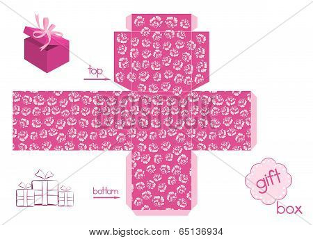 Template For Cute Gift Box