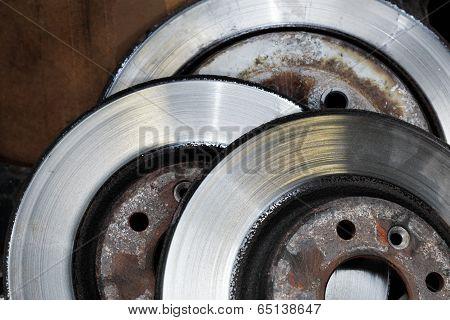 Worn out brake disks