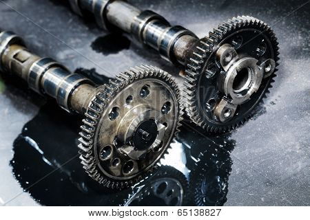 cam shaft of a turbo diesel engine