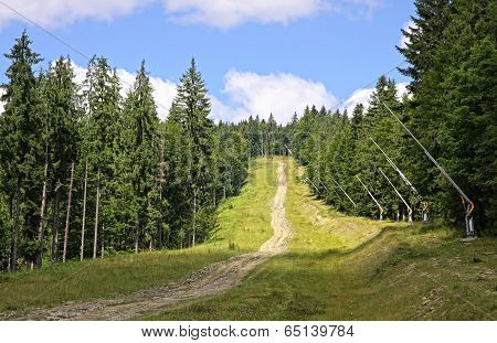 Bukovel Ski Resort In Summer, Carpathians, Ukraine