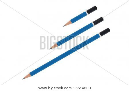 Three Blue Pencils