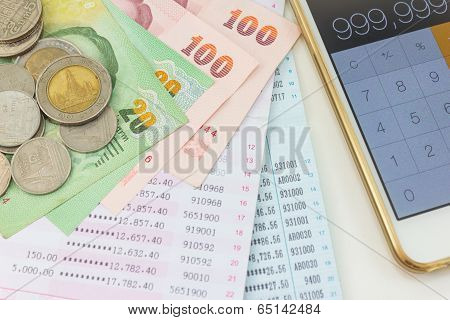 Account Passbook And Thai Money