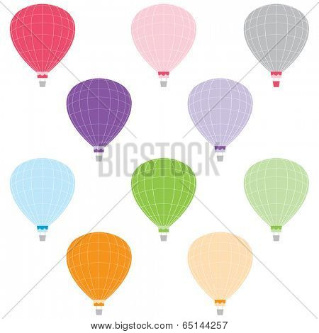 Colorful Hot Air Balloons - Illustration