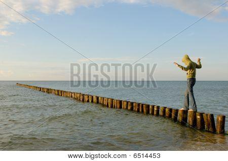 Baltic-sea in Germany - Zingst