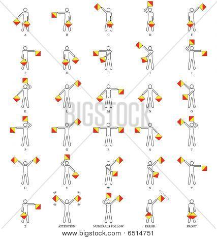 Semaphore alphabet