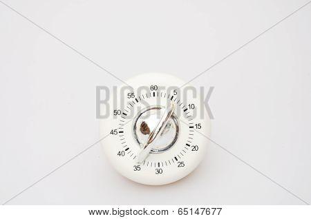 White Kitchen timer